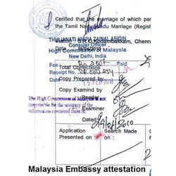 Embassy Attestation Services In India