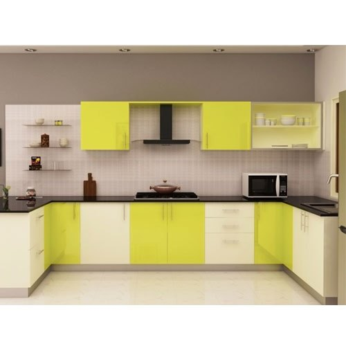 U Shaped Modular Kitchen: U Shape Wooden U-Shaped Modular Kitchen, Rs 4000 /square