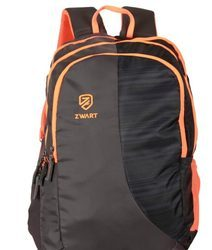 Brown Orange Pencil Pouch Backpack