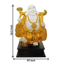 Gold Plated Laughing Buddha Corporate Gift