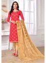 Cotton Designer Fancy Suit with Banarasi Dupatta