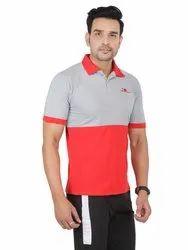Mens Cotton Collar T Shirt, Size: S - XL