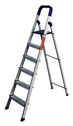 Parasnath Home Pro 6 Step 6.1 Ft Light Weight Aluminium Heavy Duty Folding Ladder