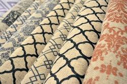 Black And Brown Printed Jute Fabric For Industrial And Bags