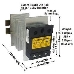 90 AMP AC to AC SOLID STATE RELAY
