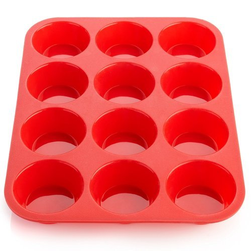 12 Cavity Silicone Cupcake Tray for Baking Tray Muffins Cupcakes Non-Stick