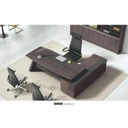 L Shape Wooden Office Table