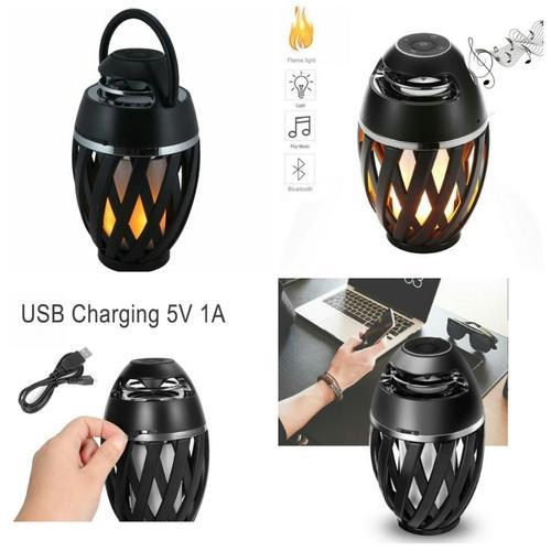 Led Flame Speaker Torch Atmosphere, Led Flame Lamp Bluetooth Speaker