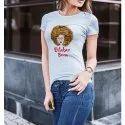 Ladies Half Sleeves Printed T Shirt