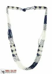 TURQUISE SEED BEADS NECKLACE