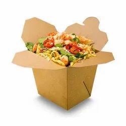 EcoRev Brown Plain Noodle Box