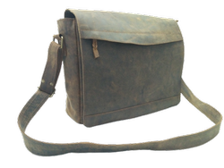 Buffalo Leather Executive Laptop Messenger Bag