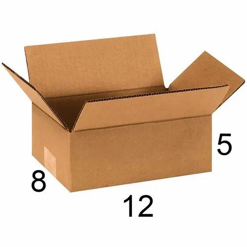 Rectangle 12 x 8 x 5 inch Corrugated Box