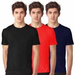 Cotton Half Sleeve Round Neck Plain Combo T Shirt, Size: S-XXL