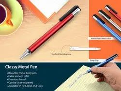 Red, Blue And Gray Metal Pen