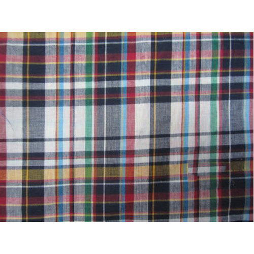 Sidste nye Multicolor Madras Cotton Fabric, Packaging Type: Roll, GSM: 100 LA-44