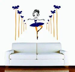 Amazon Brand - Decor Kafe Beautiful Long Hair Girl Wall Sticker PVC Vinyl, (89Cm X 121Cm)
