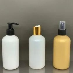 HDPE Hand Wash with Pump Lotion Shampoo Bottle 250ml