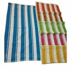 Striped Cotton Bath Towel, Size: 150 X 75 Cm, for Hotel,Home Purpose