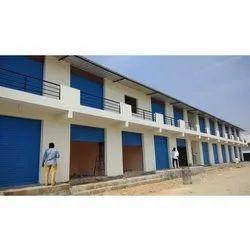 Blue Commercial Construction Service