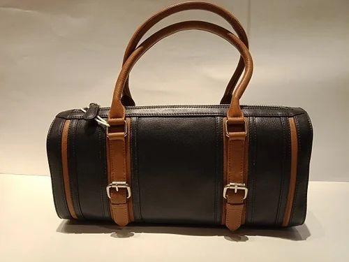 b85ab75a32 Mon Exports Black Genuine Leather Handbags For Women