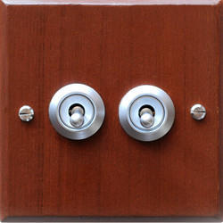 Antique Style Brushed Chrome Flush Mounting Switch