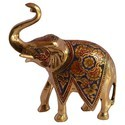 Brass Trunk Up Elephant