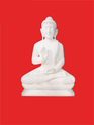 Pure White Buddha Statue