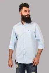 S-XL Casual Threads Light Blue Plain Shirt