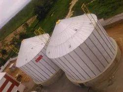 Flat bottom Grain Storage Silo