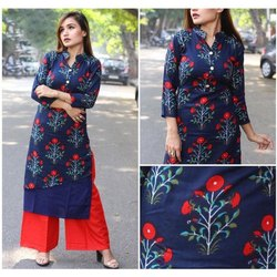 Rayon Regular Ladies Casual Palazzo Suit, Machine And and Wash