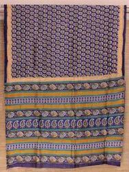 Chanderi Silk Cotton Printed Saree, Length: 6 m