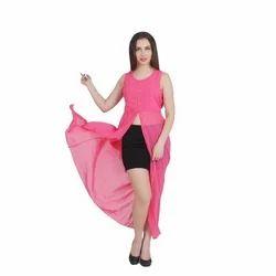 Festive Wear Women Ladies Pink Long Dress