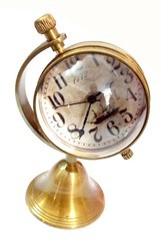 Tora Brass 2' Globe - Table Clock