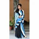 Cotton Half And Half Casual Wear Saree With Blouse Piece, Saree Length: 5.5 M