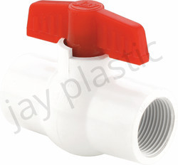 JAY PP White Solid Ball Valve (Thread)