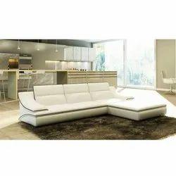 Sr Enterprises Modern 5 Seater Living Room Sofa, Cushion Back, L Shape