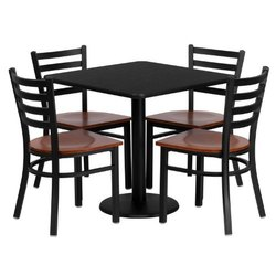 National Enterprises Steel Restaurant Chair & Table With Seating Capacity 4 Person Onward