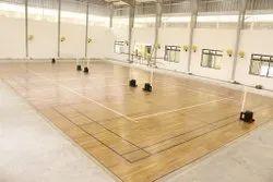 Indoor Wooden Badminton Court