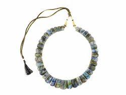 Blue Green Fire Labradorite Necklace