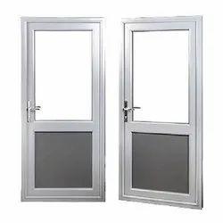 Hinged 7 Feet Aluminium Door, For Home, Thickness: 5 Mm App Sheat
