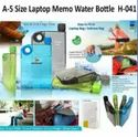 A-5 Size Laptop Memo Water Bottle