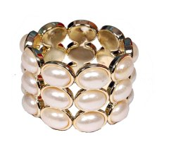 Indian Wedding Party Wear Bollywood Styles Pearl Bracelet For Women
