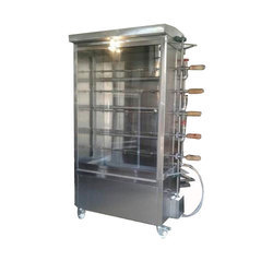 Chicken Shawarma Machine, Capacity: 25birts Grill Machine, Number Of Gas Burners: Gas