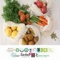 GRS Certified Recycle Cotton String Bags
