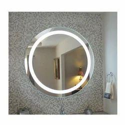 Silver LED Illuminated Mirror