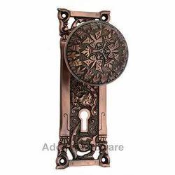 Diana Brass Door Knob with Plate