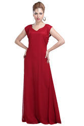 Full Length Floor Touch Ladies Maxi Dress