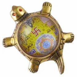 Eshoppee Shri Shree Vyapar Vridhi With Kuber Yantra Two In One On Metal Tortoise