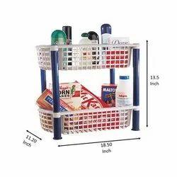 Plastic Free Standing Aristo Volvo Kitchen Storage Rack